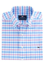Spincast Gingham Performance Classic Tucker Shirt