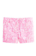 Girls Shell Print Boulevard Shorts