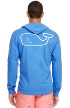 Long-Sleeve Vintage Whale Graphic Hoodie