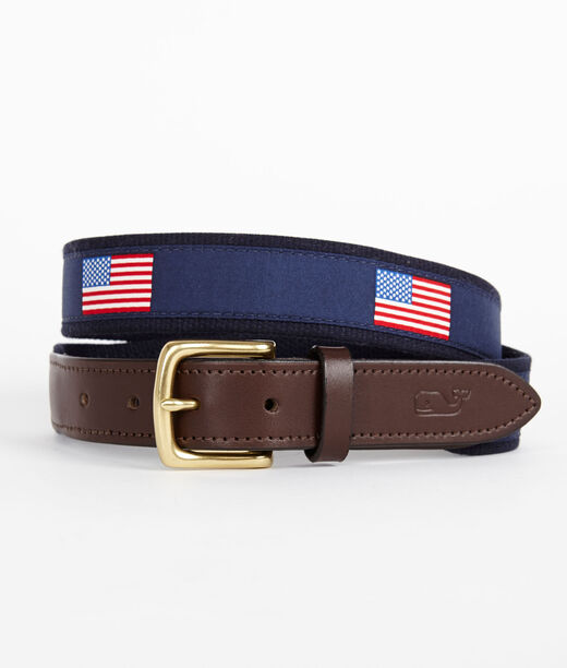 Boys Accessories American Flag Canvas Club Belt For Boys