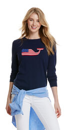 Whale Flag Intarsia Sweater