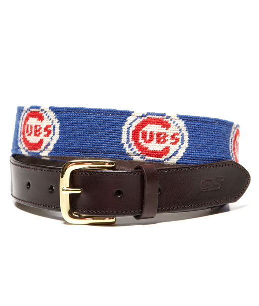 Chicago Cubs Needlepoint Belt