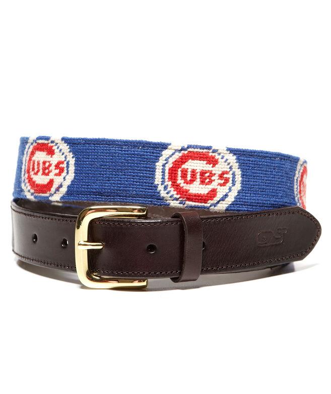 Chicago Cubs Needlepoint Belt