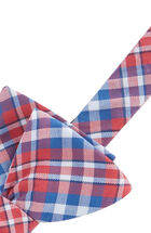 Gilberts Pond Plaid Woven Bow Tie
