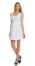 Chevron Jacquard Dress