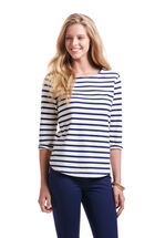 Stripe Top With Oxford Trim