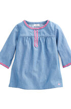 Girls Chambray Embroidered Popover