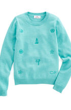 Girls Embroidered Icon Sweater