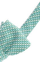 Whale Pattern Bow Tie