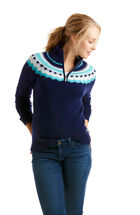 Fair Isle 1/4-Zip Sweater