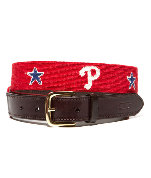 Philadelphia Phillies Needlepoint Belt