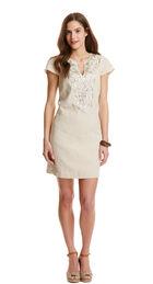 Flax Linen Shell Beaded Tunic Dress