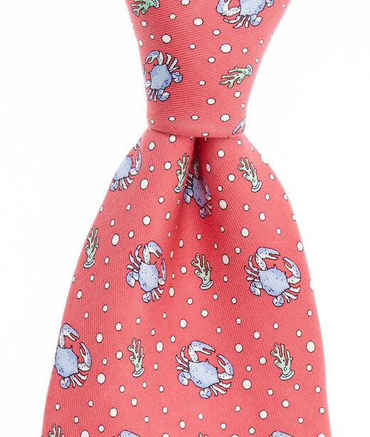 Men S Ties Crab Printed Silk Tie For Men Vineyard Vines