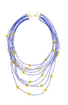 Multi Strand Cluster Bead Necklace