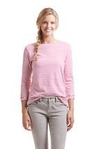 Stripe Boatneck Top With Oxford Trim