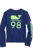Boys Long-Sleeve Performance Whale 98 T-Shirt
