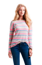 Multi Stripe Boatneck Sweater