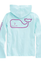 Girls Long-Sleeve Whale Hoodie Pocket Tee