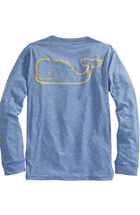 Long-Sleeve Vintage Whale Performance Heather T-Shirt
