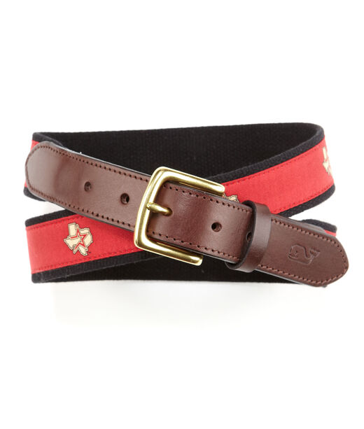 Houston Astros Canvas Club Belt