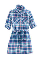 Girls Flannel Shirt Dress