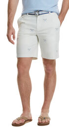 9 Inch Lacrosse Embroidered Breaker Shorts