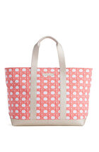 Caning Canvas Saffiano XL Tote