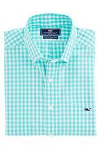 Corozo Gingham Slim Tucker Shirt