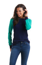 Raglan Sleeve Baseball Sweater