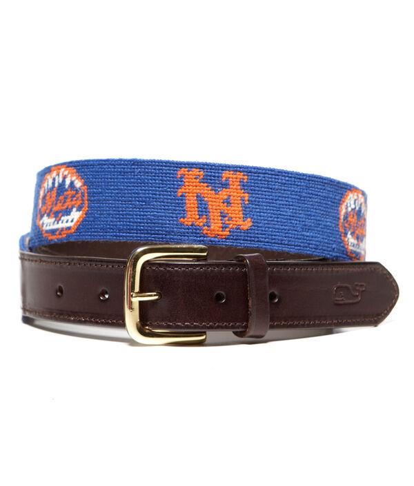 New York Mets Needlepoint Belt