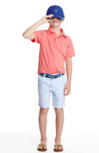 Boys Pigment Garment Dyed Polo