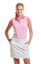 Sleeveless Stripe Performance Polo