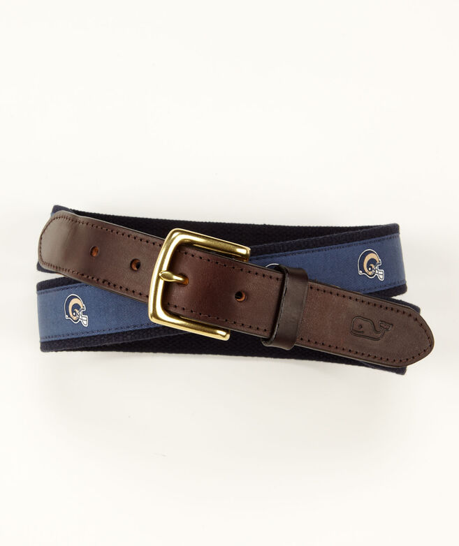 St. Louis Rams Canvas Club Belt