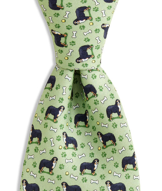 Shop Bernese Mountain Dog Printed Tie At Vineyard Vines