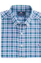 Lacker Plaid Performance Slim Tucker Shirt