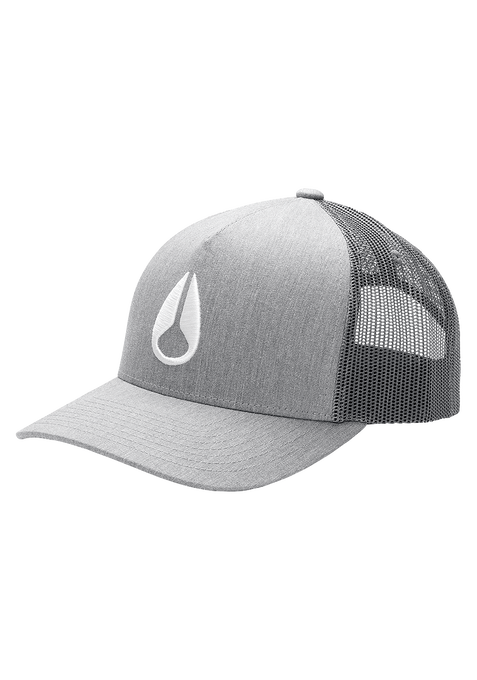 Gorra Trucker Iconed, Heather Gray