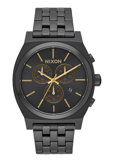 Time Teller Chrono, All Black / Gold