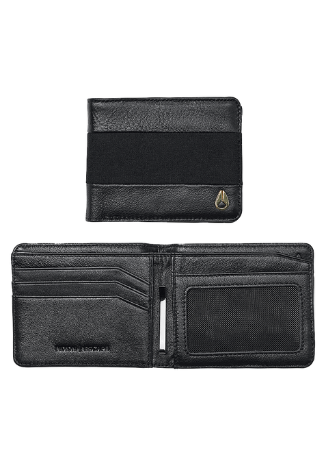 Escape Bi-Fold Clip Wallet, Black / Black