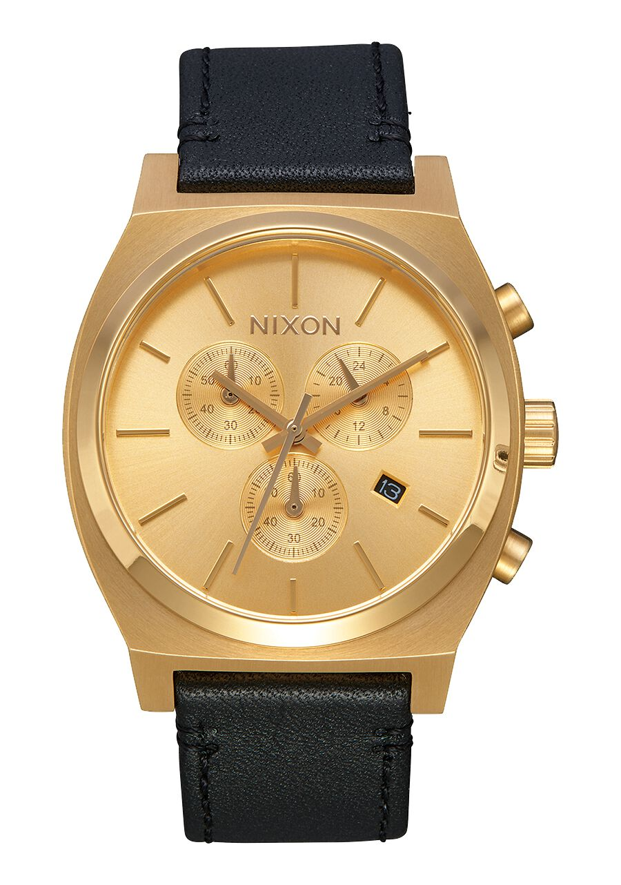 nixon watches watch novedad reloj gold teller accesorios small black pin leather time