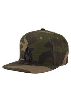 Icon Snapback Hat, Woodland Camo