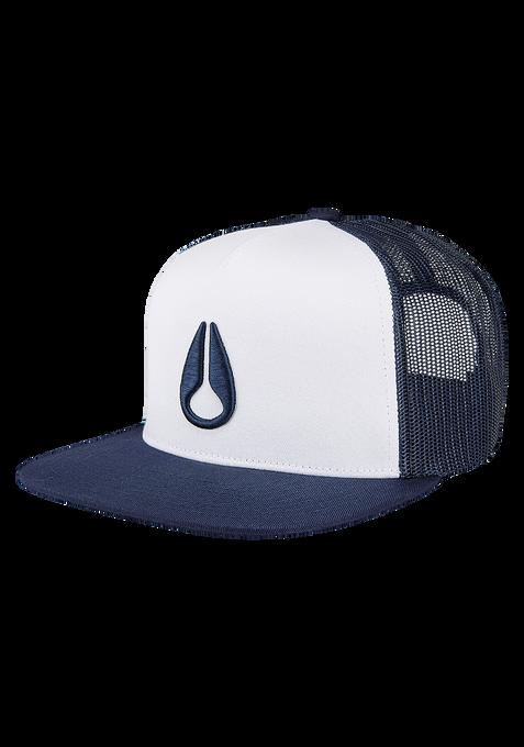 Deep Down Trucker Hat, White / Navy