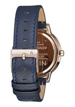 Kensington Leather, Navy / Rose Gold
