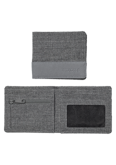 Atlas Nylon Showdown Bi-Fold Wallet, Charcoal Heather