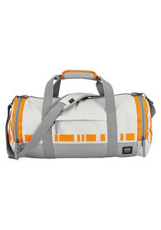 Bolso Duffle Barrel Star Wars, BB-8 Silver / Orange