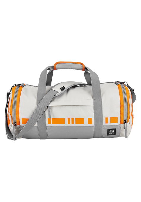 Barrel Duffle Bag SW, BB-8 Silver / Orange