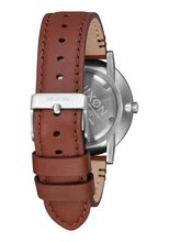 Porter Leather, Silver / Brown