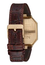 Re-Run Leather, Brown Croc