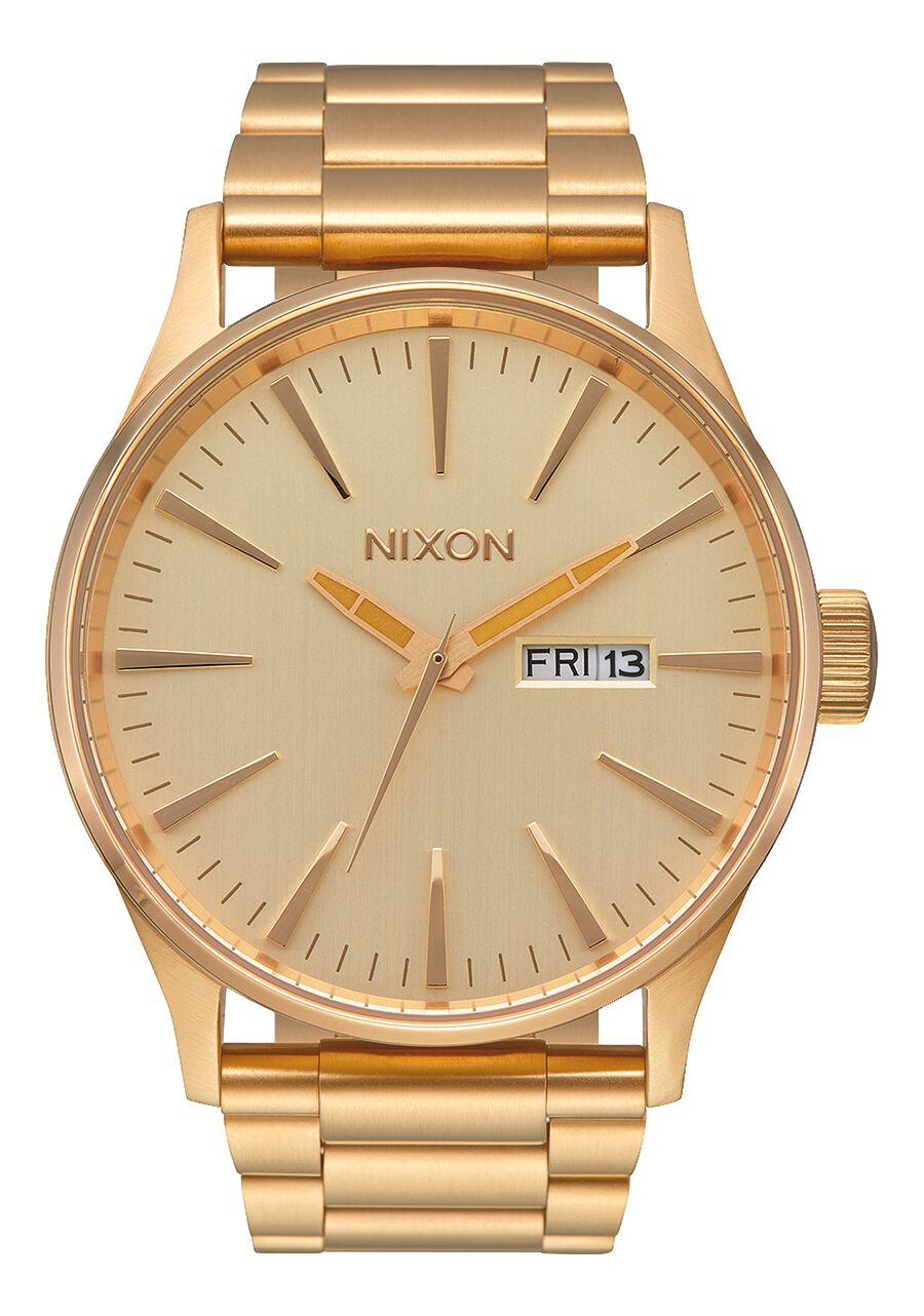 sentry gold steel chronograph dial bracelet super on date watches sale now nixon all watch