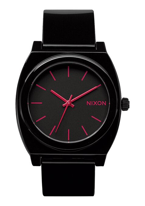 Time Teller P, Black / Bright Pink