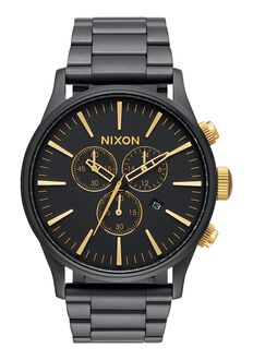 Sentry Chrono, Matte Black / Gold